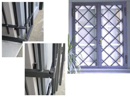 Produzione vendita e posa in opera di inferriate di sicurezza inferriate per finestre - Cancelli di sicurezza per porte finestre ...