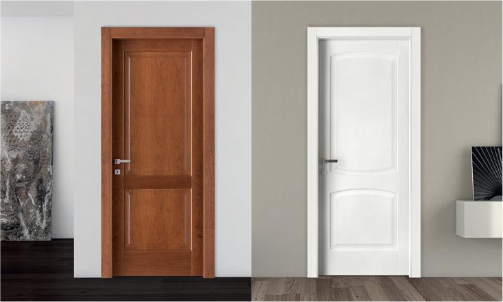 Porta per interni impiallacciata in essenza collezione - Porte da interno brico ...