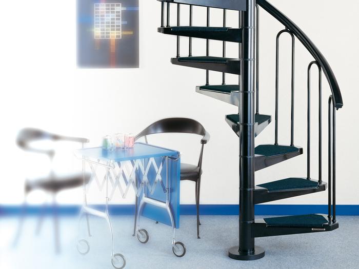 chiocciola, scale per soppalchi, scale per interni, scale per esterni ...