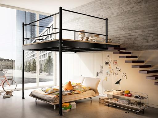 Produzione vendita e posa in opera di scale e soppalchi scale a chiocciola scale a rampa - Soppalchi in legno per camere da letto ...