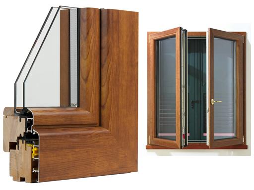 Infissi legno alluminio taglio termico prezzi pannelli for Infissi pvc legno