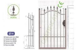Cancello pedonale Chiara