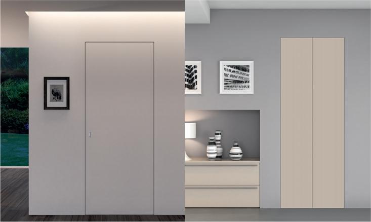 Produzione vendita e istallazione di porte da interni - Porta scorrevole filo muro ...