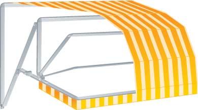 Tende da sole a bracci estensibili tende da sole su barra quadra tende da sole a capanno - Tende da esterno prezzi ...