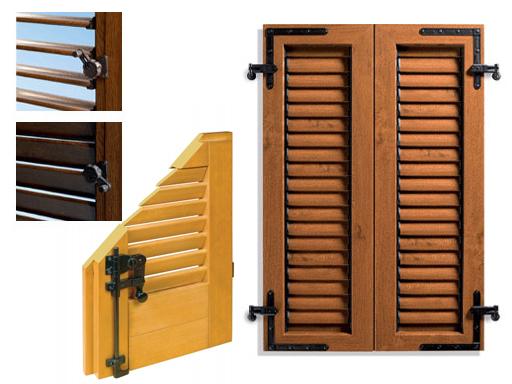 Produzione vendita e posa in opera di persiane alluminio for Scuri in legno prezzi online