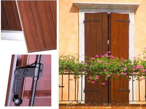 Scuroni in legno doghe verticali metal florence for Finestre legno alluminio prezzi